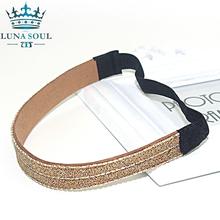 1 pc/lot 2016 LunaSouL New Style Elastic Crystal Rhinestone Leather Headband Hairband Hair Accessories For Women Girl HTD1605