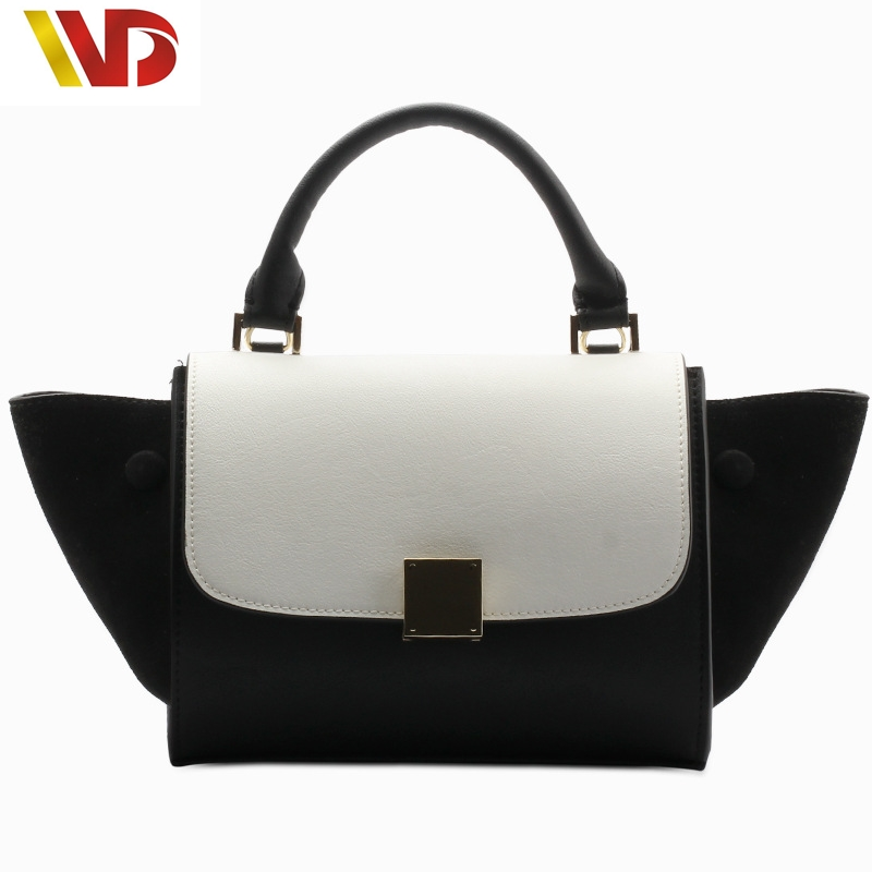 2016 New Tide Fashion Bat Wings Shoulder Bag Hand Diagonal Package European and American fashion leather handbags leather bag funville кукла