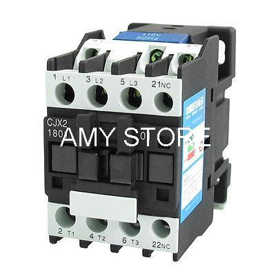 660V 32A 3 Phase 3P N/C AC Contactor DIN Rail Mount 110V Coil CJX2-1801<br><br>Aliexpress