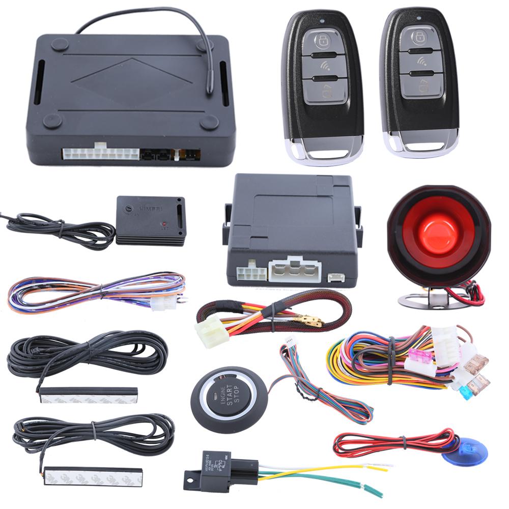 Здесь можно купить  Smart Key PKE car security alarm system with passive keyless entry push start stop automatic owner identify power window output  Автомобили и Мотоциклы