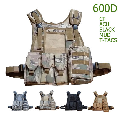 military camouflage tactical vest outdoor Molle system multicolor CS play Paintball equipment DB21E11 - Jeepmove store
