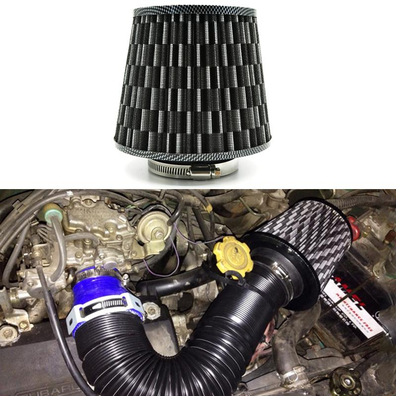 """3""""/75mm Universal Car Styling High Flow Cold Air Intake filter Stainless Steel Washable Reuseable Fuel Economy Auto Accessories(China (Mainland))"""