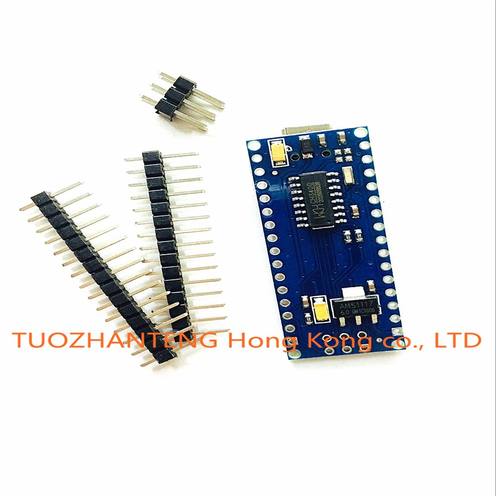 Free shipping ! 10PCS Nano 3.0 controller compatible for arduino nano CH340 USB driver NO CABLE nano v3.0