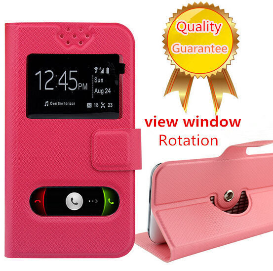 Haier W850 Phone Cases, Flip PU Leather Open Windown Case for Haier W850(China (Mainland))