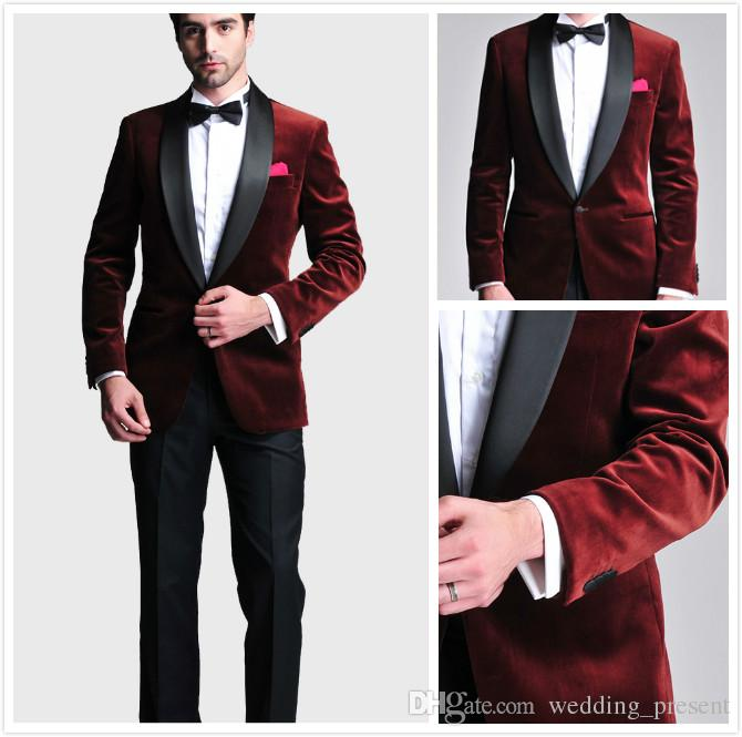 Online Buy Wholesale burgundy and black prom suit from China