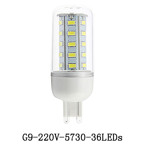 5X G9 Led Lamps G9 5730 220V 12W LED Lights Corn Led Bulb Christmas Chandelier Candle Lighting(China (Mainland))