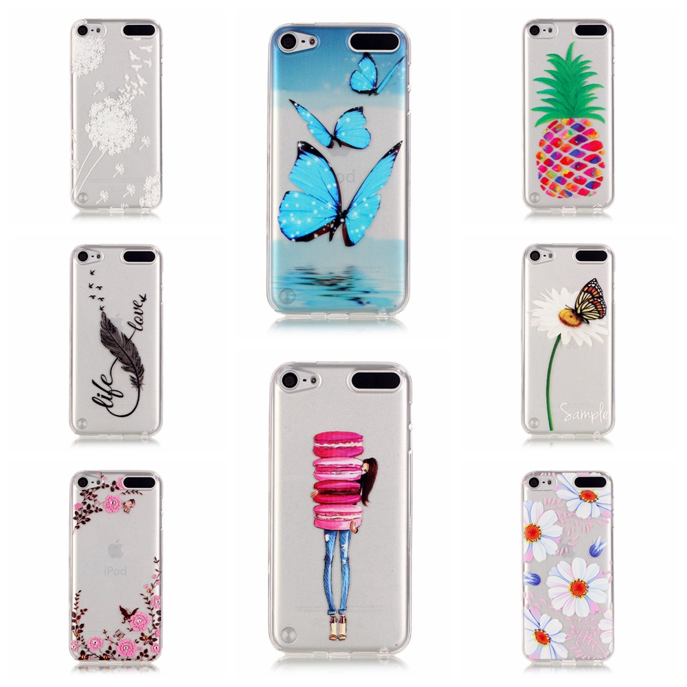 Touch 5/6 Fashion Beauty Flower Cute Butterfly TPU Gel Clear Case Cover For Apple iPod Touch 6&iPod Touch 5 Silicone Pigeon Case(China (Mainland))