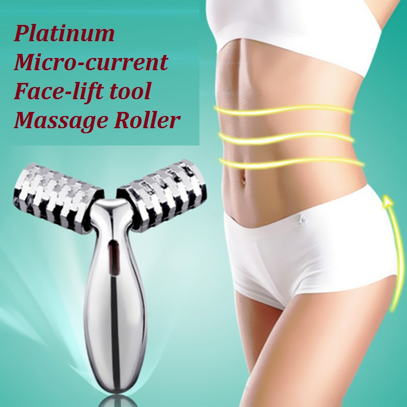 Quality Japan beauty instrument Solar Y type Face lift tool Facial massager Octagonal wheel Portable Body shaping massage roller(China (Mainland))