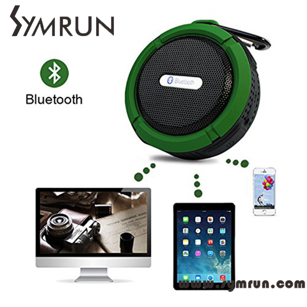 Symrun Bluetooth Speaker V4 C6 Car And Shower Speaker Outdoor Waterproof Waterproof Bluetooth Wireless Stereo Speaker With(China (Mainland))