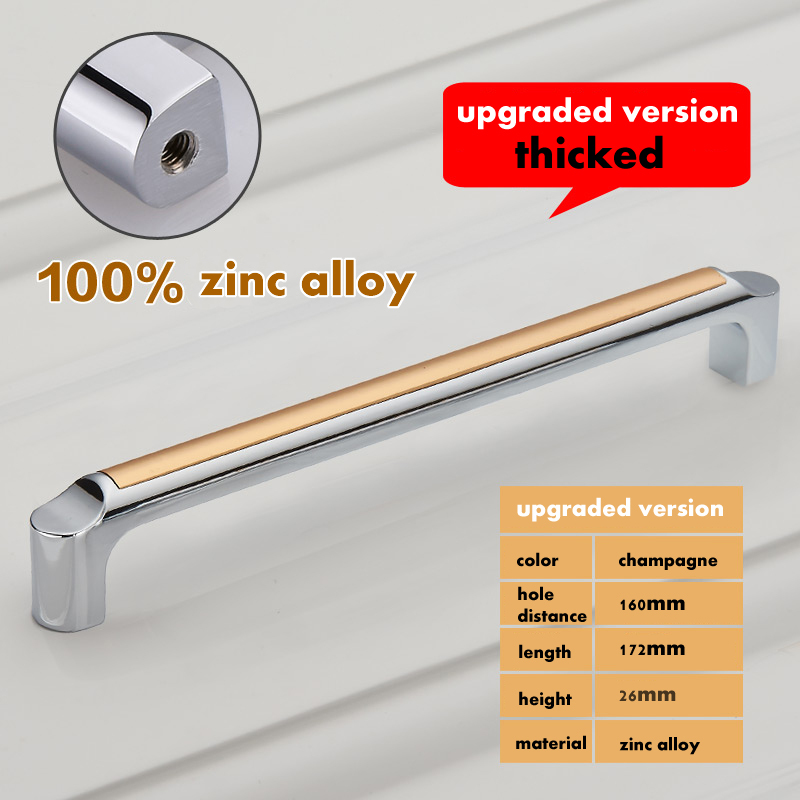 Гаджет  New 160mm Modern Cabinet Drawer Handles Solid Knobs pulls Furniture Handle Cupboard Closet Zinc Alloy Handle Pulls Bars None Мебель