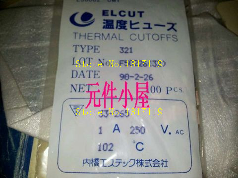 Original UMI resistance temperature fuse 321 series 250V 1A 102 degrees one hundred 20 yuan(China (Mainland))