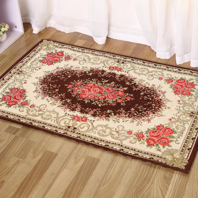 anti slip bedroom rug table mats luxury kilim floral carpet rug