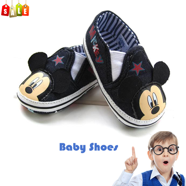 Hot sale baby boys cartoon mickey toddler antiskid shoes infant booties shoes prewalker first walkers high quality free shipping