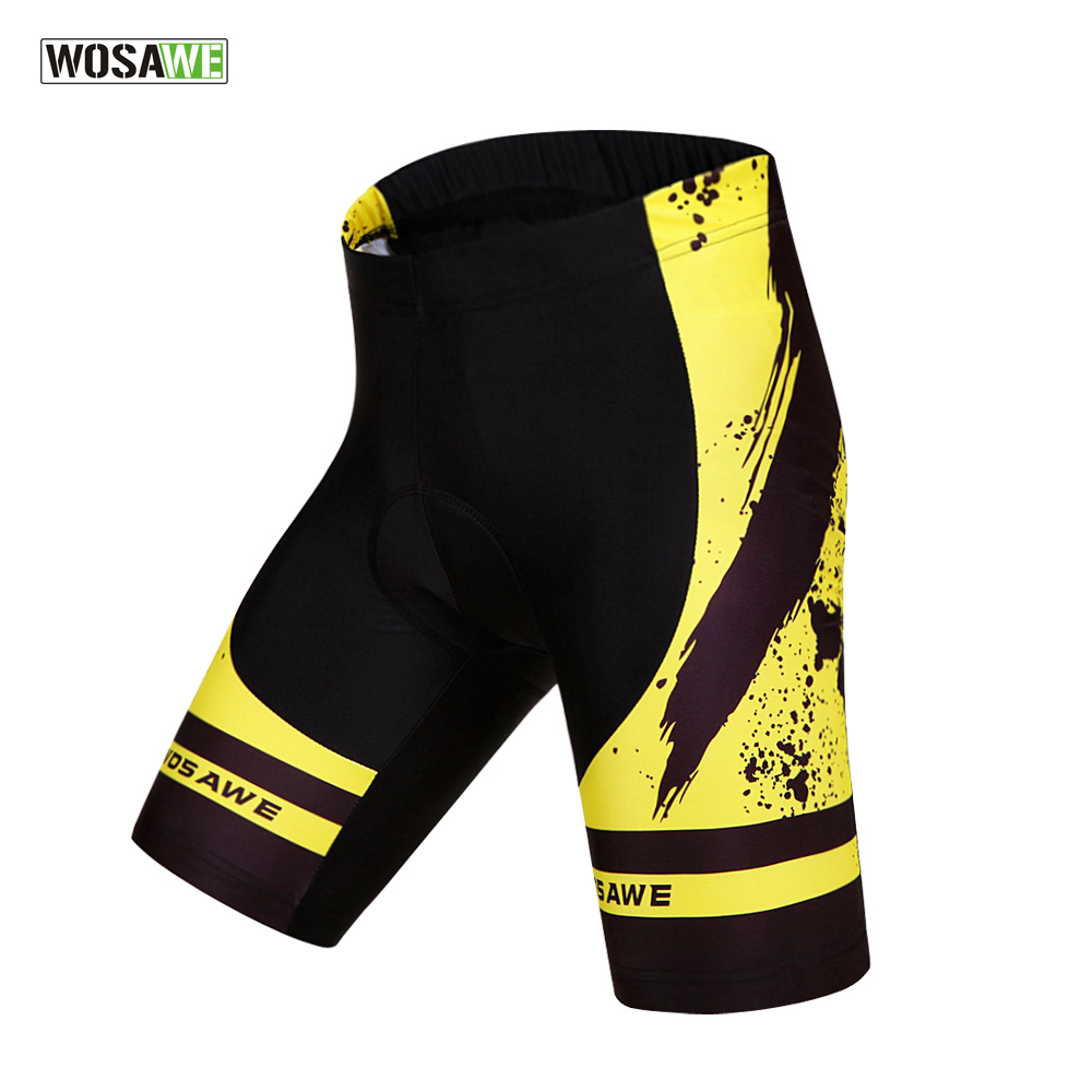 WOSAWE Men's 3D Gel Padded Lycra Cycling Shorts ciclismo downhill MTB Bicycle Bike Outdoor Sports Clothings Size S-XXL(China (Mainland))