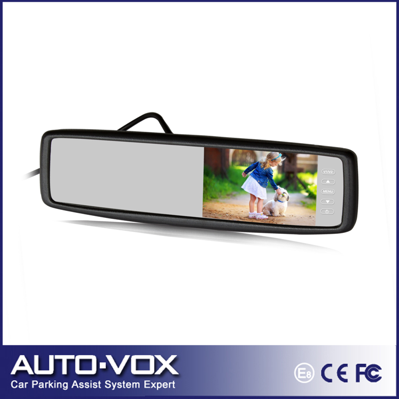 4.3 Inch Anti-glaring Glass Universal Car Rearview Mirror Monitor Vehicle Backup Rear View Tft LCD Mirror Monitor With Bracket(China (Mainland))