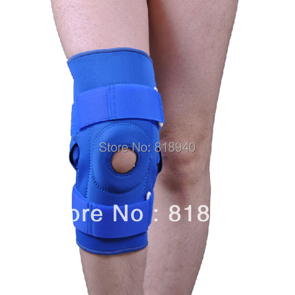 Neoprene Knee Brace/Support Stabilising Patella Ligament Injuries Hinged Velcro(China (Mainland))
