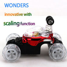 Innovative design! scaling function  RC Cars Dump Stunt  Car Children Toys With light and music for Kids Birthday Special Toys(China (Mainland))