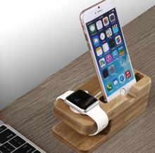 2016 New Bamboo Original Stand Charging Dock Station Bracket Accessories iPhone 4 4s 5 5s 5c 6 6plus and watch(China (Mainland))