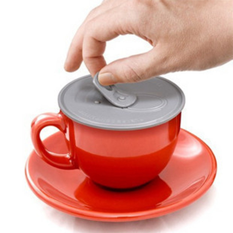 Easy pulled Novelty Anti dust leak proof Silicone Cup Lid Water Drinking coffe mug lid dust