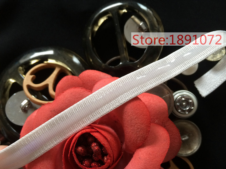 15mtrs/lot 1.1cm 2 colors Accessories elastic tape shoulder strap silicone strap for underwear wedding dress(China (Mainland))