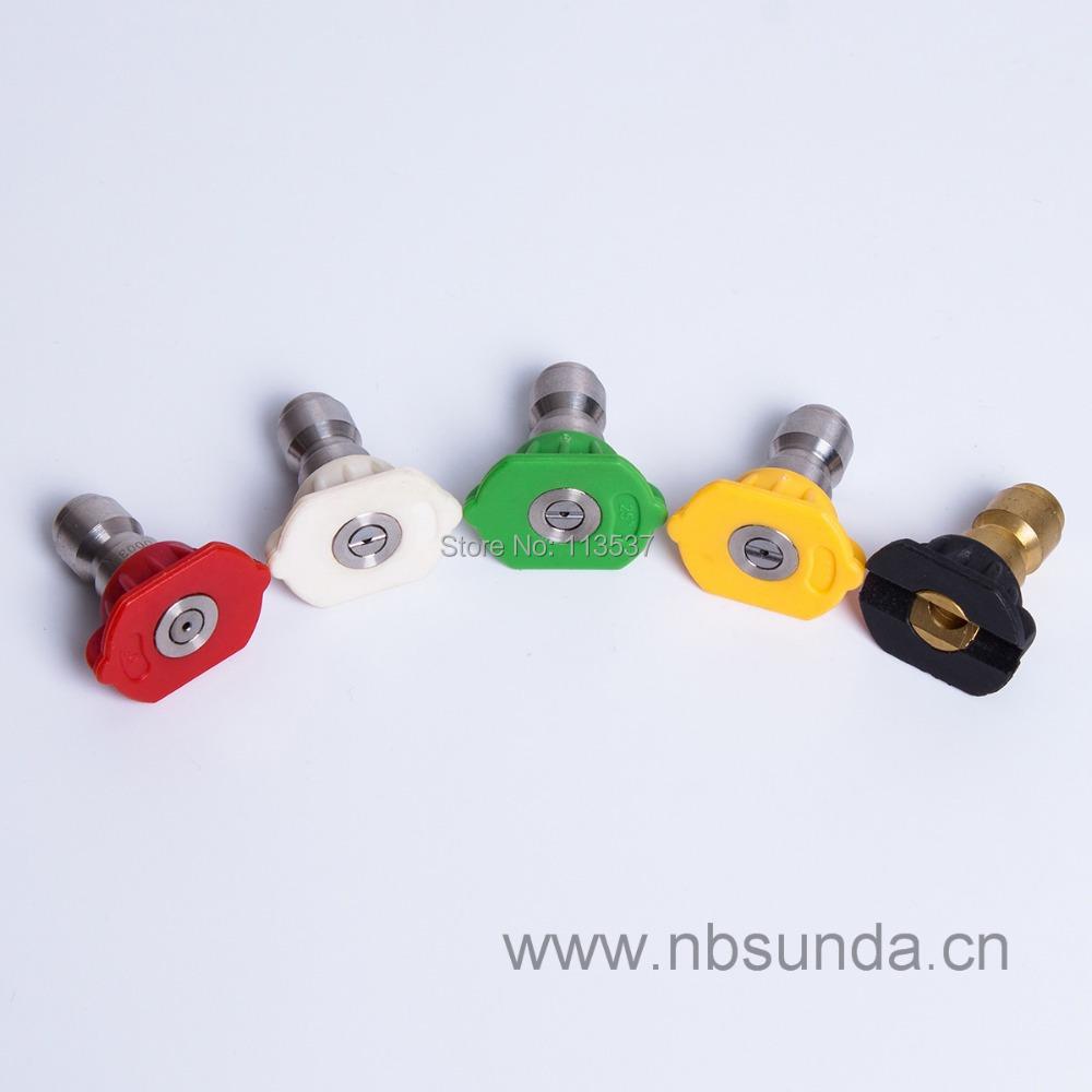 Spray Tip Set / Spray nozzle / high pressure washer nozzle(5pcs per set)(China (Mainland))
