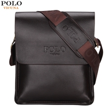 VICUNA POLO Famous Brand Classic Design Leather Mens Messenger Bags Promotional Casual Business Man Bags Shoulder Bag Briefcase(China (Mainland))