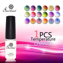 Saviland Chameleon Temperature change gel color UV nail polish soak Gorgeous Lacquer varnish Top Nail - Brand beauty Store store