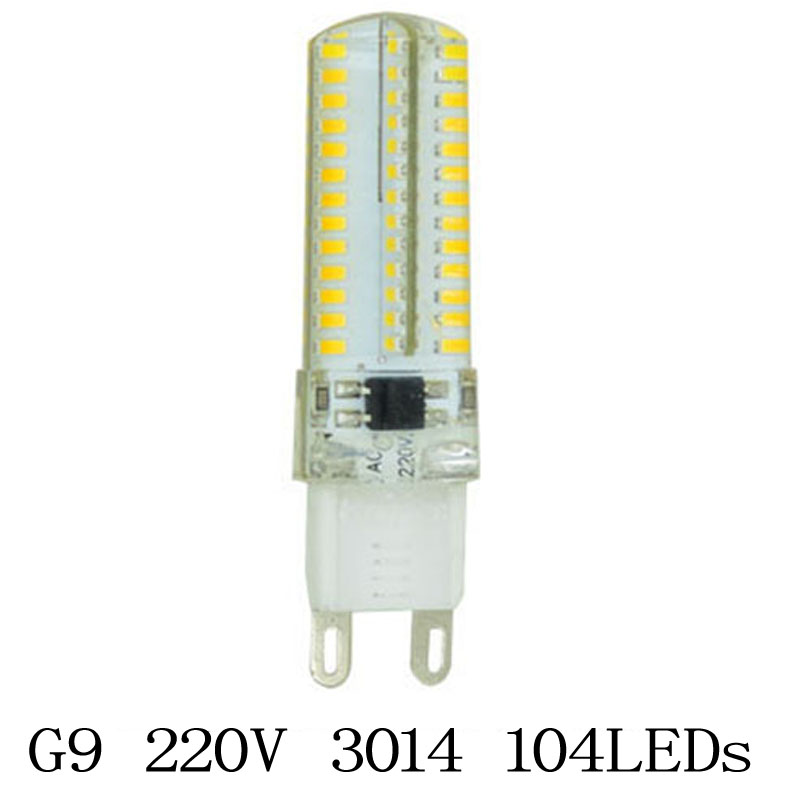 Гаджет  1x G9 7W LED Lamps AC 220V SMD 3014 64SMD Silicone Crystal Corn Bulb Spot Light Chandelier Tube Refrigerator RV Home Lighting None Свет и освещение