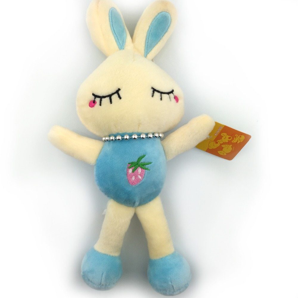 30CM New 2015 Super Kawaii Rabbit Plush Toy Stuffed Dolls Soft Blue Bunny Toys Closed Eyes Rabbit Doll Good Quality NT067B(China (Mainland))
