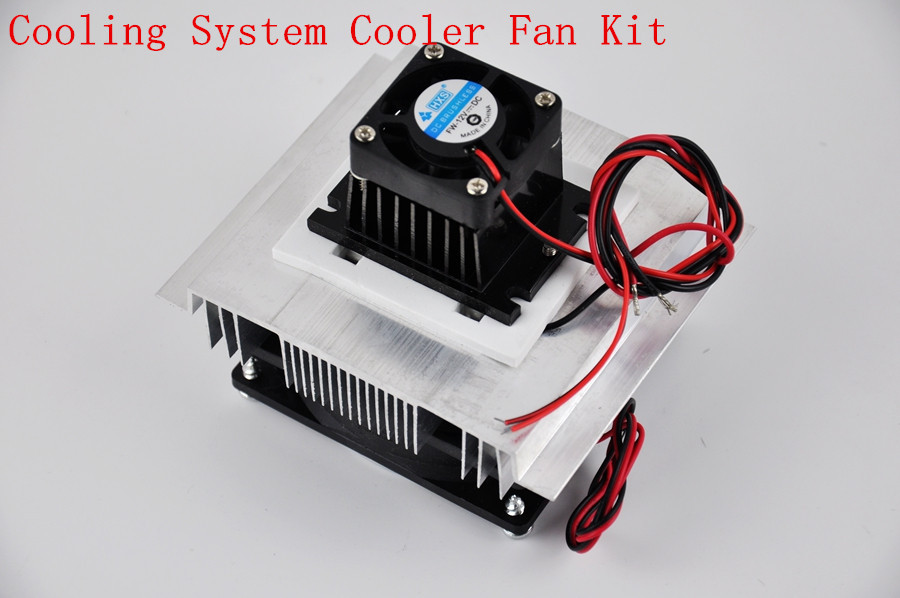 Brand New Thermoelectric Peltier Refrigeration Semiconductor Cooling System Cooler Fan Kit Free Shipping(China (Mainland))