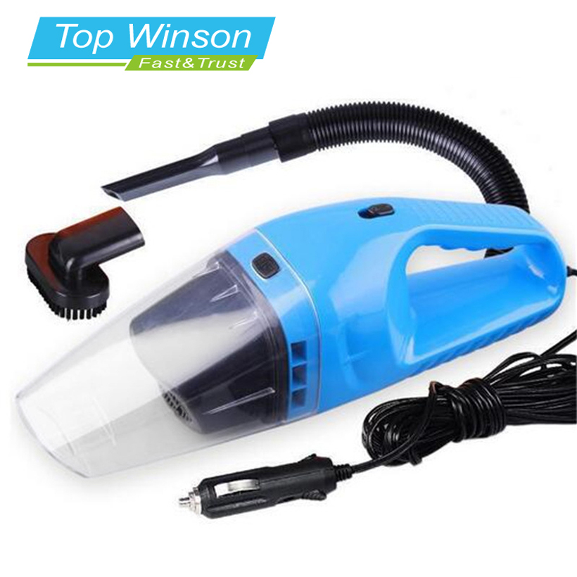 Car Vacuum Cleaner Portable Wet And Dry Dual Use Auto Cigarette Lighter Filter 120W 12V Blue(China (Mainland))
