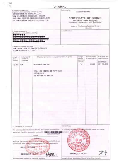 Doc801985 Certificate of Origin Forms Doc801985 Certificate – Certificate of Origin Forms