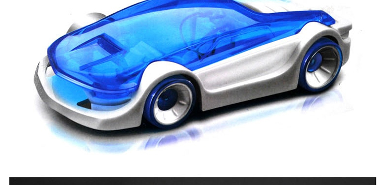5 Pieces/ Lot  Diy Brine Power Car Toys For Environment Education Children Gift Novelty(China (Mainland))