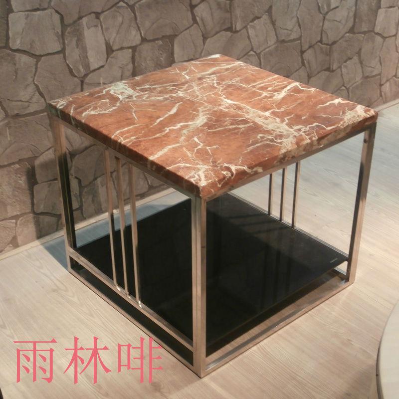 공장 아웃렛 현대적인 미니멀 한 대리석 커피 테이블 스테인레스 ...