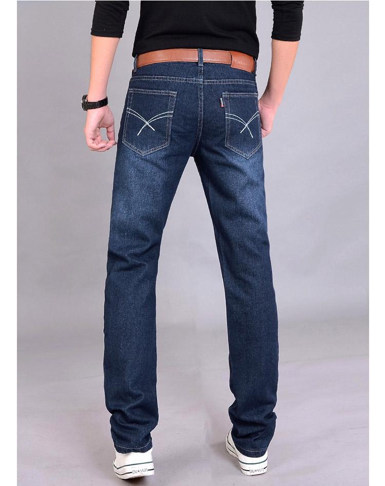 Мужчины джинсы брюки осень джинсы мужчины приталенный Fit деним брюки человек узкие джинсы Hommes деним брюки Gray28-40