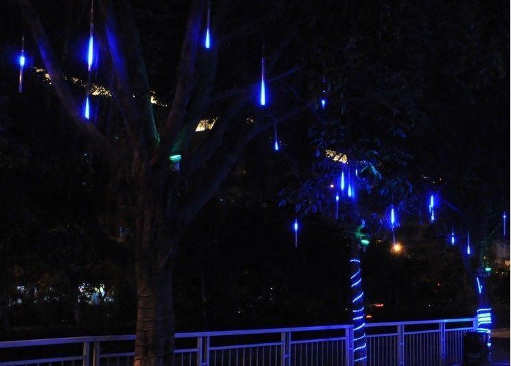 White/blue 20cm 80Leds Shower Meteor Rain Light Tube Christmas Decoration Lights US plug 82843(China (Mainland))
