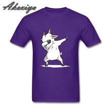 Забавная футболка из козьего пуха, потрясающая Мужская футболка из 100% хлопка с круглым вырезом и короткими рукавами, высокое качество, своб...(China)