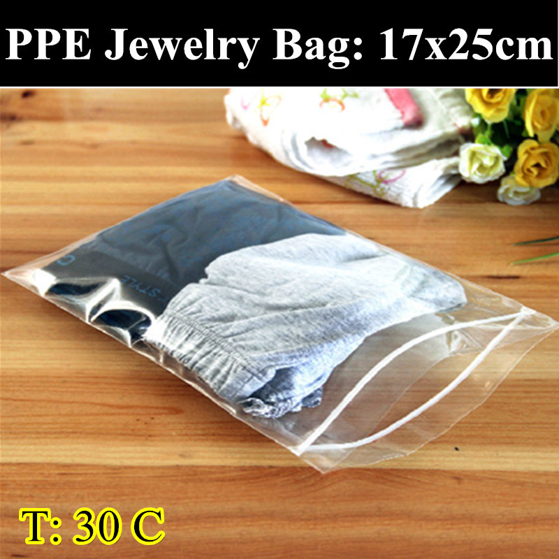 PPE-30pcs/lot 17cm*25cm 0.30mm Thickness Self Adhesive Seal Plastic Pouch,Resealable Retail Bags,Clothes/Underwear Bag(China (Mainland))