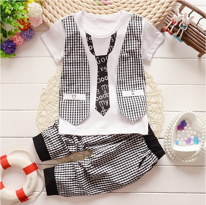 2015 new Fashion spring summer autumn Childrens boys clothing set children twinset kids clothes set(China (Mainland))