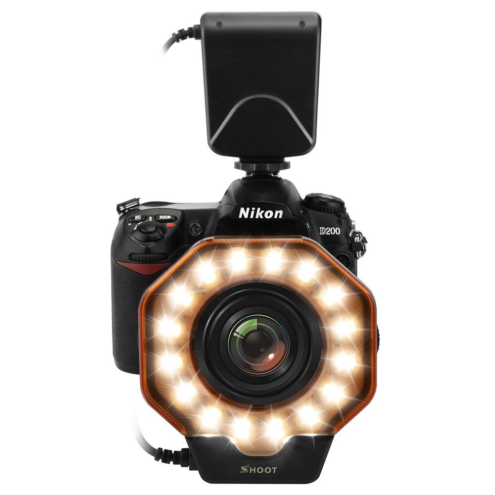 Led Macro Ring Flash Light for Canon MarkIII Nikon Olympus Pentax SLR Cameras Lens in Diameter of 52/55/58/62/72/77mm(China (Mainland))