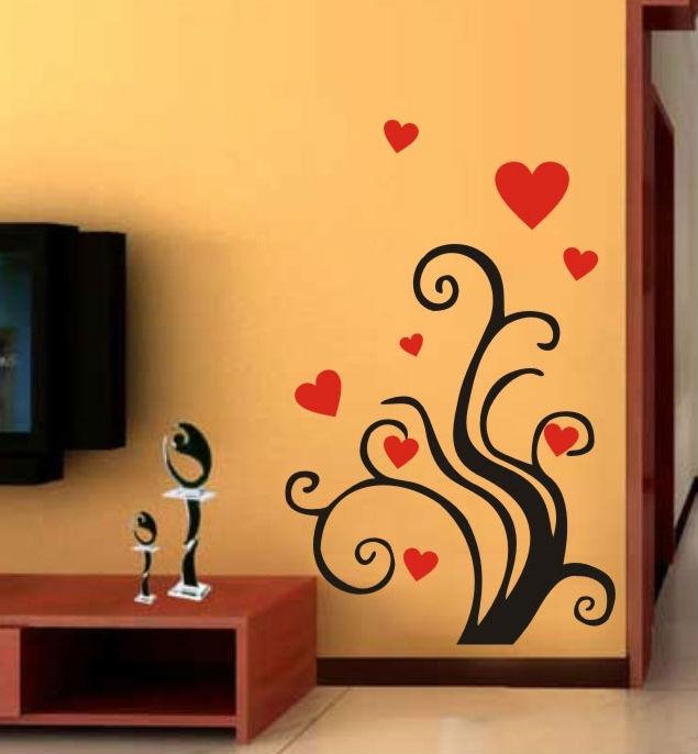 C019 rbol de amor con hearts arte vinilos decorativos - Vinilos con arte ...