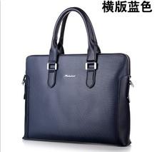 Кожа мужская briefcases2016brand мужчин ноутбука сумки синий бизнес реальные кожаные сумки свободного покроя портфели