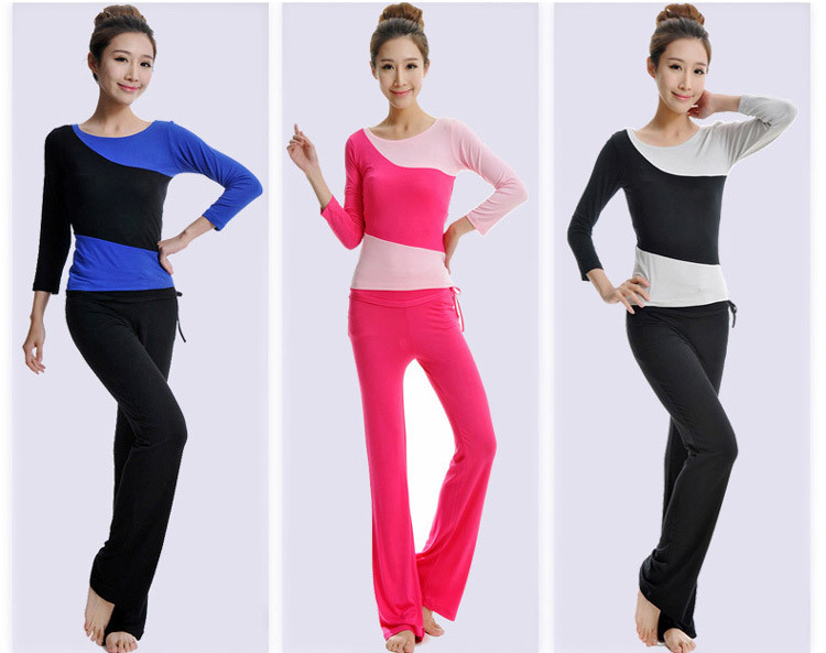 2015 New special fashional sports casual pants lyoga clothes long sleeve suit Modal positive brand yoga dance fitness apparel(China (Mainland))