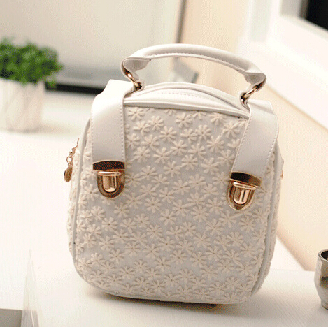 free shipping 2015 New / School bag / bags women /Small Dandelion / lace / diagonal / single backpack / laptop(China (Mainland))