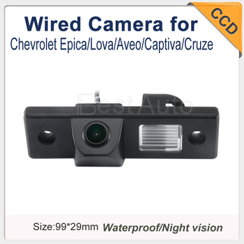"""Wired CCD 1/3"""" car parking camera for Chevrolet Epica/Lova/Aveo/Captiva/Cruze night version waterproof free shipping"""