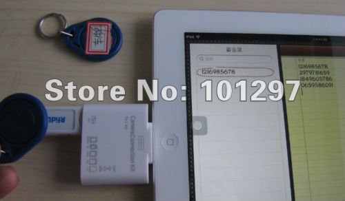 USB Dongle Emulate Keyboard 13.56Mhz ISO 14443 A Rfid NFC Reader Android iPad Tablet Mobile(China (Mainland))