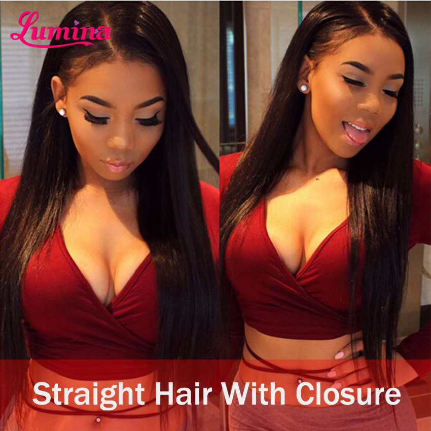 Brazilian Virgin Hair With Closure Brazillian Straight Human Hair Weave Style Ear To Ear Lace Frontal Closures With 3/4 Bundles(China (Mainland))