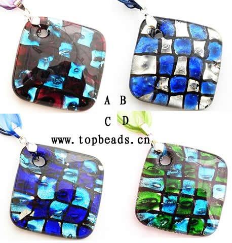 Murano Glass pendant, Silver Foil<br><br>Aliexpress