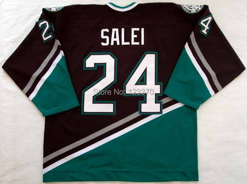 2002-03 anaheim mighty ducks jersey #24 Ruslan Salei JERSEYS Customized Any Number &amp; Name Sewn On YL-6XL<br><br>Aliexpress