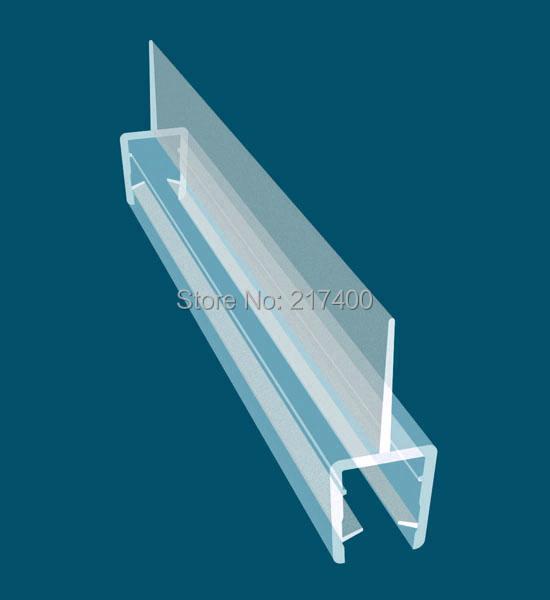 free shipping FC-001 Bath Shower Screen Door Seal Strip / Glass Thickness 8mm / Seals Gap 12mm glass door seal length 0.7m(China (Mainland))